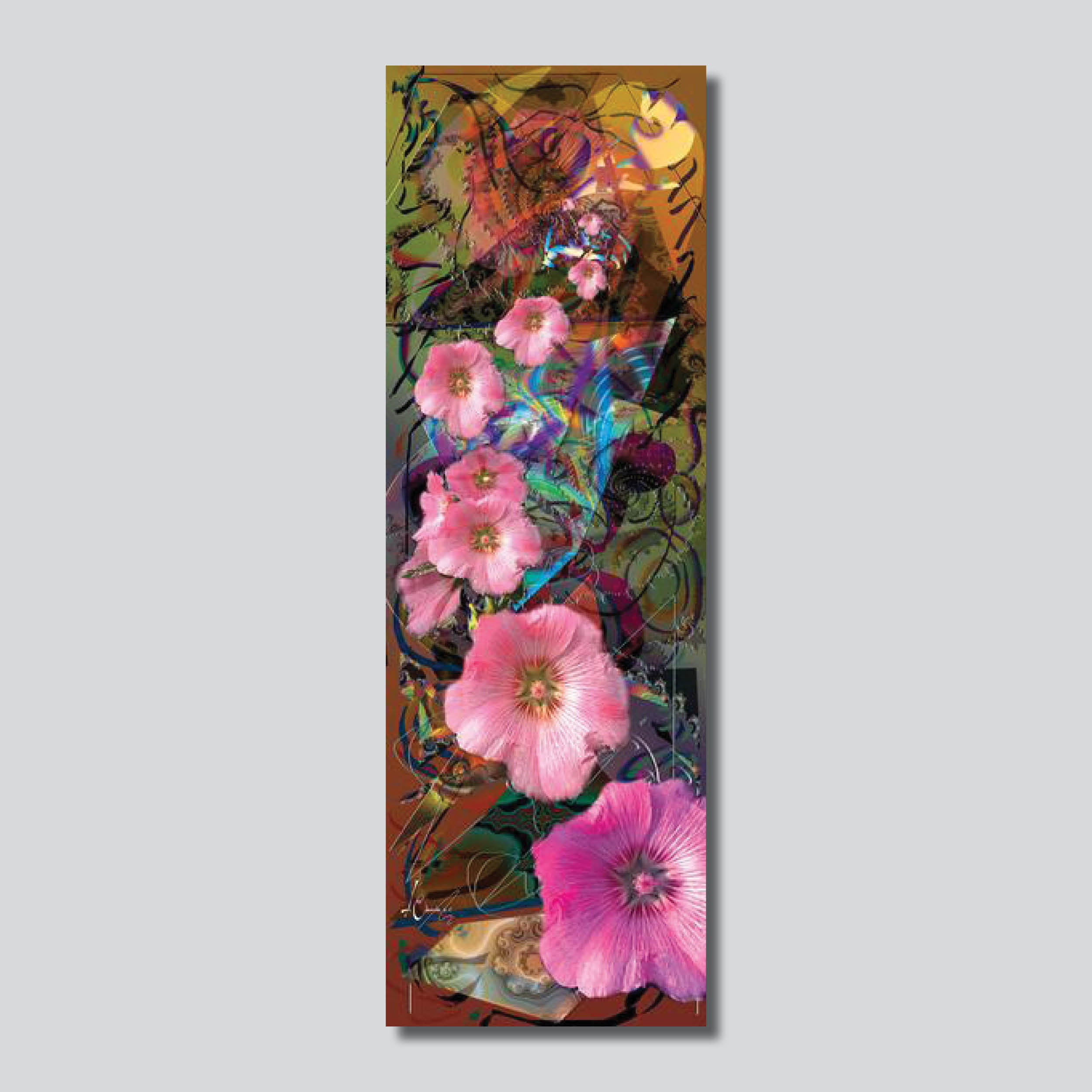 "Flowers Of The Wind 10"" x 30"" Giclee Printed On High Gloss Metal"