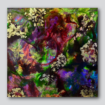 """Heart Full of Love Blooms 12"""" x 12""""/20"""" x 20"""" Giclee Printed On High Gloss Metal"""