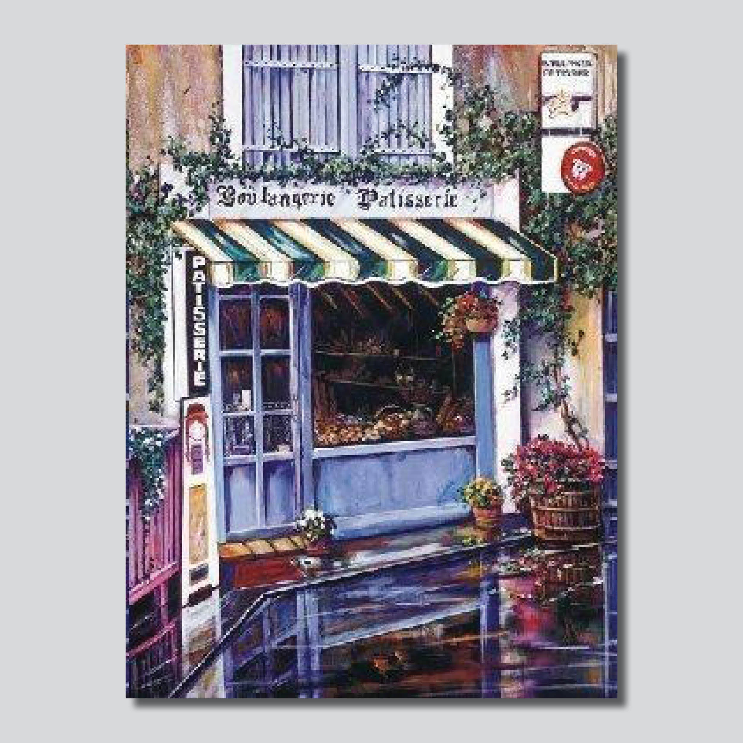 """La Patisserie"" 30"" x 24"" Limited Edition Giclee' Printed On Canvas"