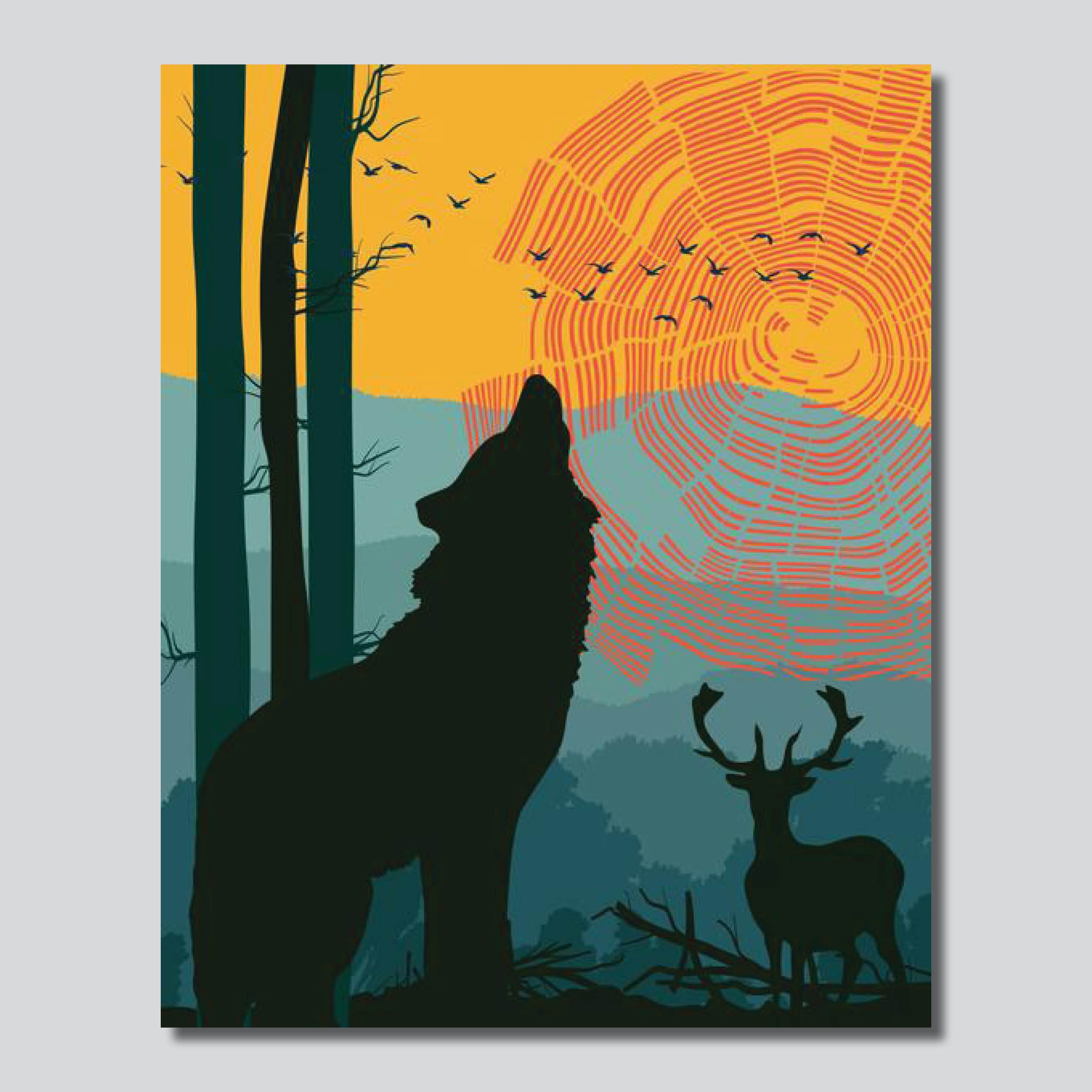 """Love Our Earth Day 2019 Forest Giclee Printed On High Gloss Metal/8"""" x 10""""/ 11"""" x 14"""""""