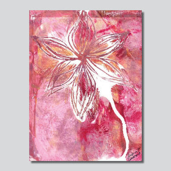 """Original Art"" Lovely Lily XI / 6"" x 8"" Mixed Media On Paper"