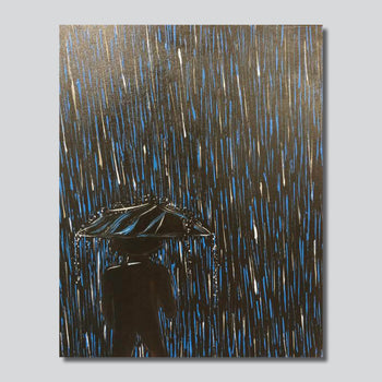 """Original Art"" Rain Man/18"" x 24"" Acrylic On Canvas"