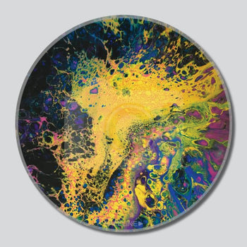 "Solar Flare 11""/16""/20"" Diameter Giclee Printed On High Gloss Metal"