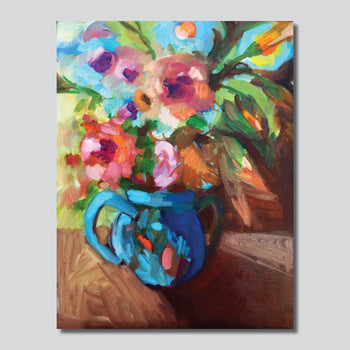 """Summer Blooms 28""""x 38"""" Giclee Printed On High Gloss Metal"""