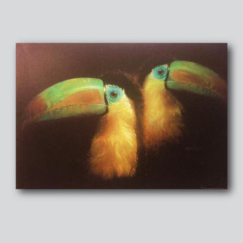 "Toucans 27"" x 20"" Limited Edition Giclee' Printed On Canvas"