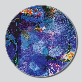 "Very Violet 6th Chakra 11""/16""/20"" Diameter Round Giclee Printed On High Gloss Metal"