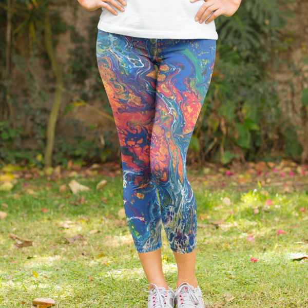 Acid Trip Yoga Capri Leggings