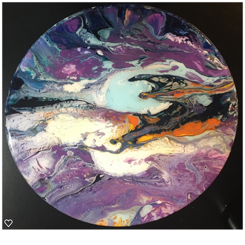"""Original Art""  Passing Through 15"" Diameter"