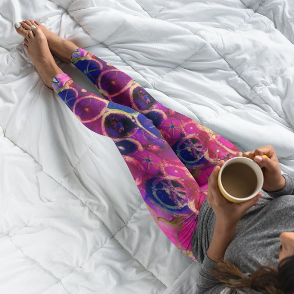 Dripping Dahlias Yoga Leggings