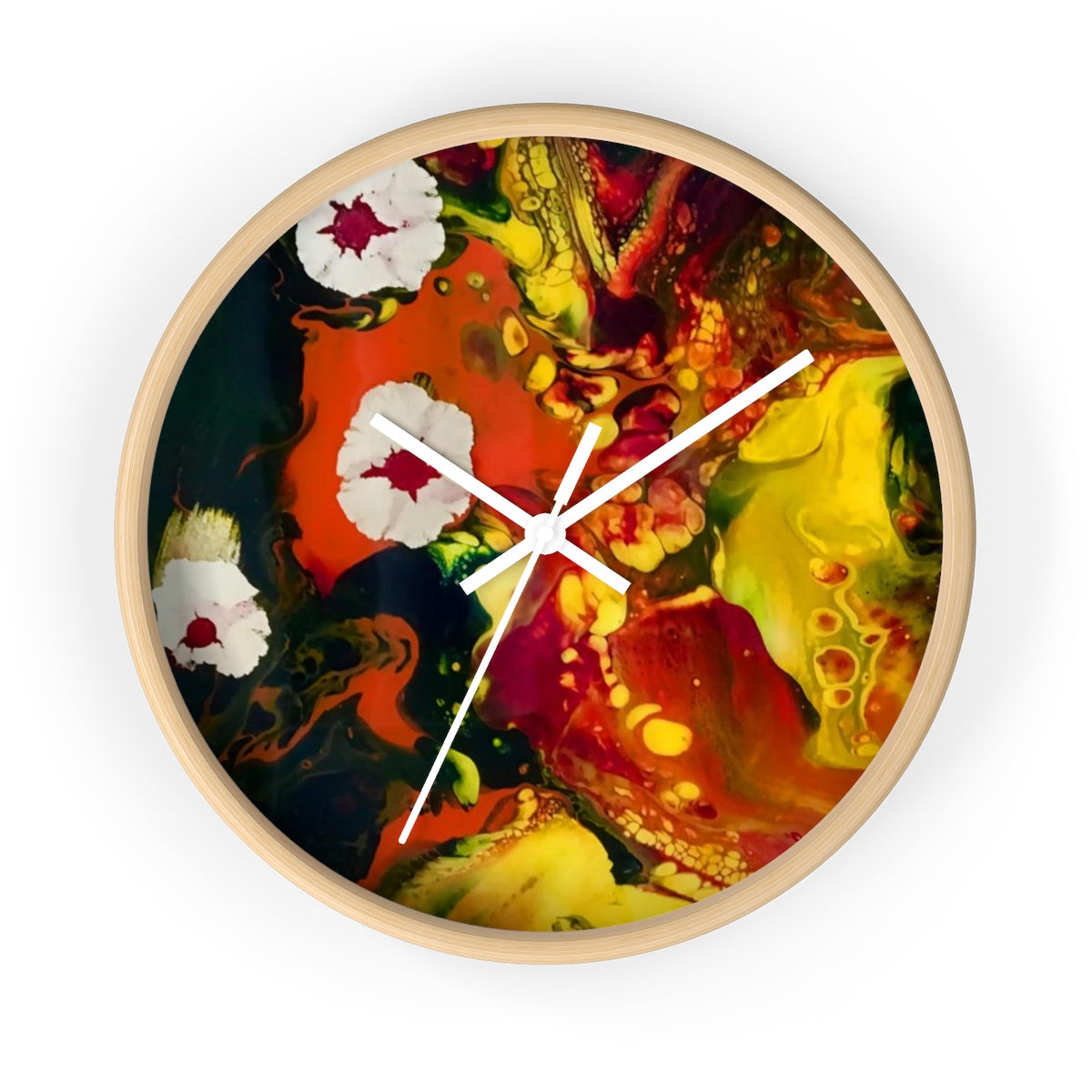 Floating Budding Blooms Wall Clock