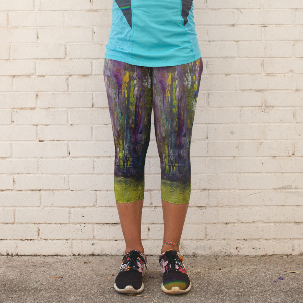 Entrance to Fairy Forest Yoga Capri Leggings