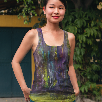 Entrance to Fairy Forest Women's Racerback Tank