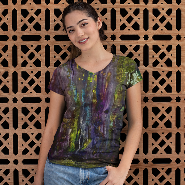 Entrance to Fairy Forest All Over Print Women's V-neck