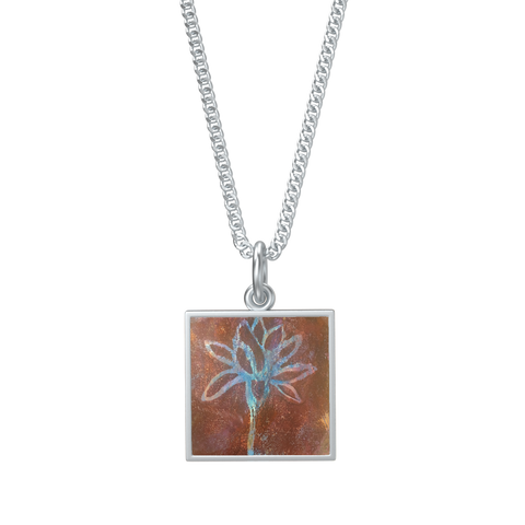 Lotus Uplifted I Pendant w/ Necklace