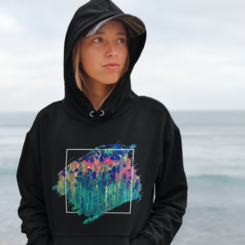 Happy Blooms Hooded Sweatshirt