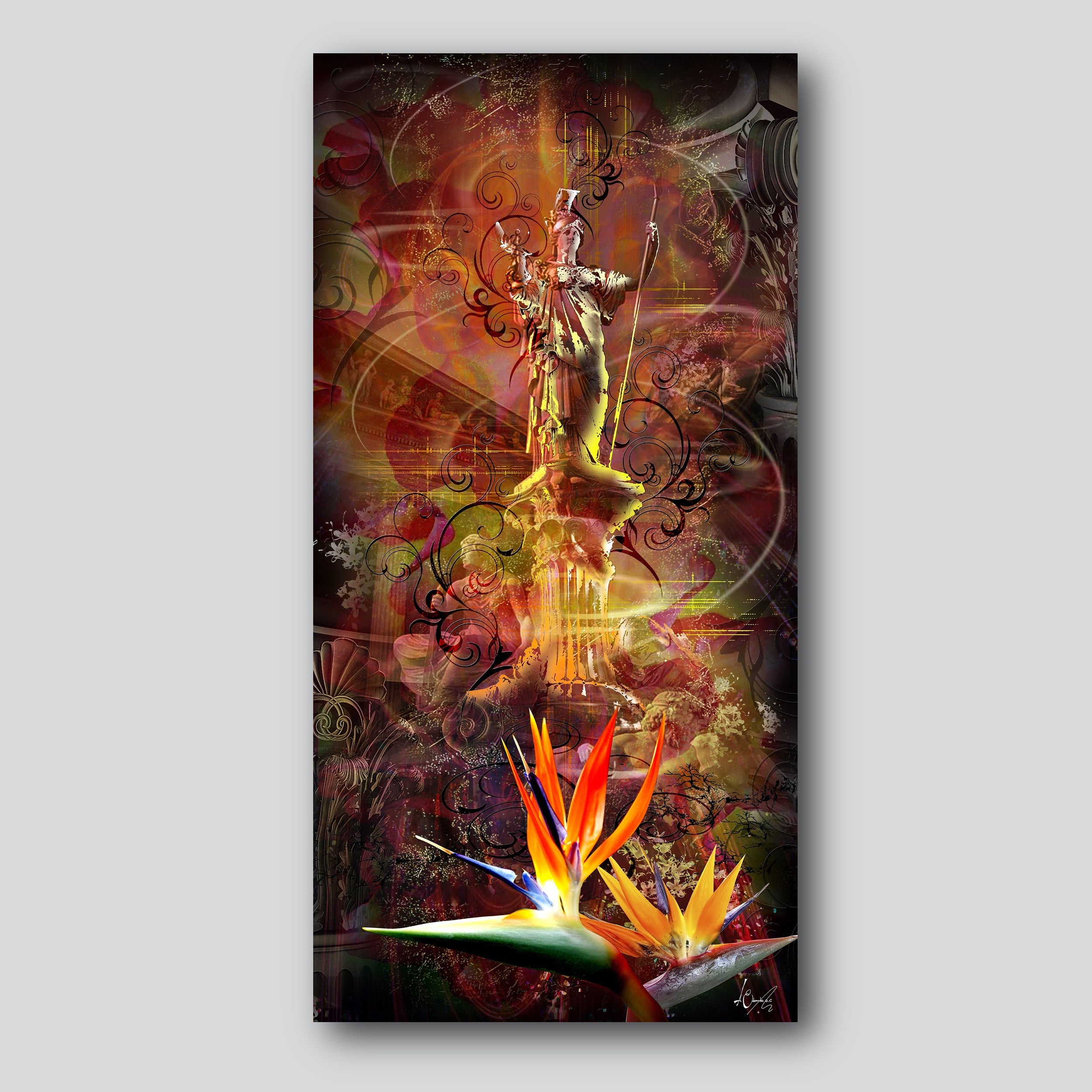 "The Lost Paradise 15"" x 30"" Giclee Printed On High Gloss Metal"