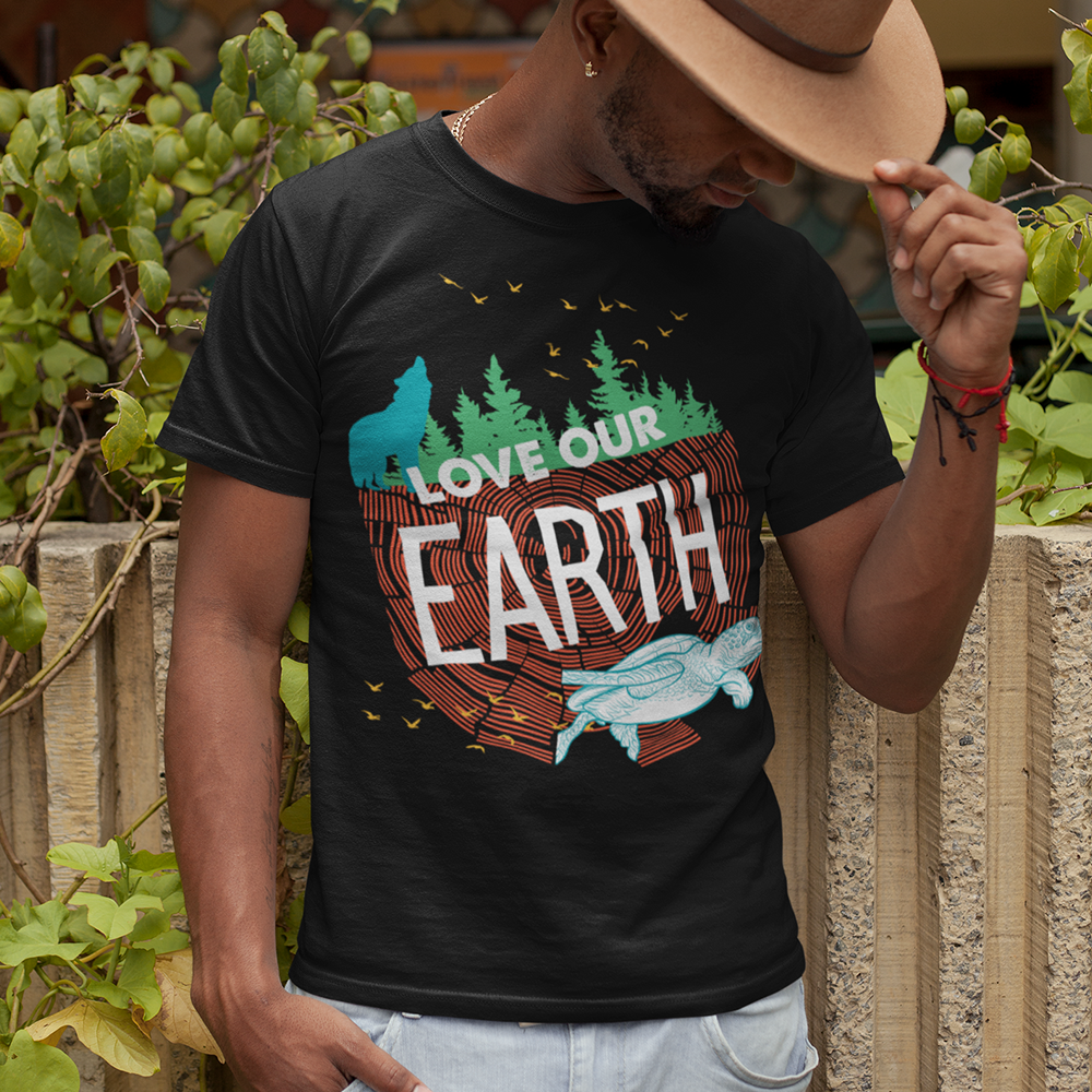 Love Our Earth Sustainable T-Shirt, Limited Edition Earth Day 2019 Design