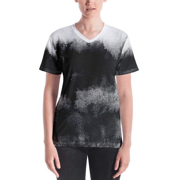Sumi Ink All Over Print Women's V-neck