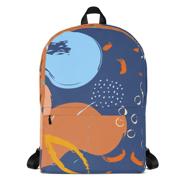 Abstract Blue/Orange Backpack