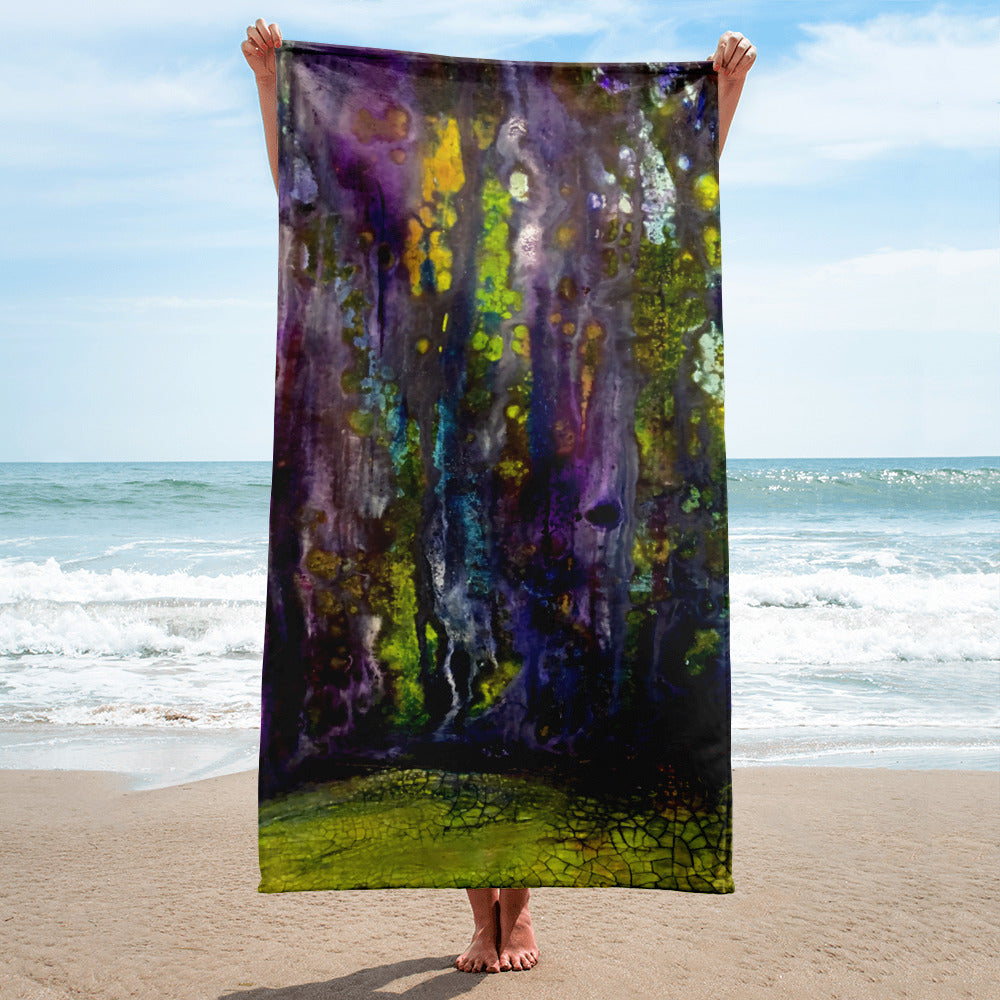 Entrance to Fairy Forest Beach Towel