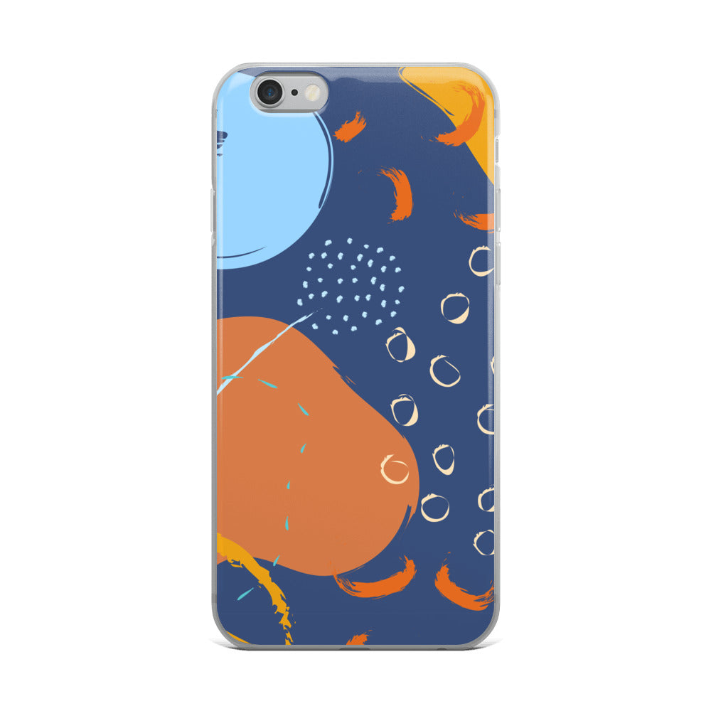 Abstract Blue/Orange iPhone Case