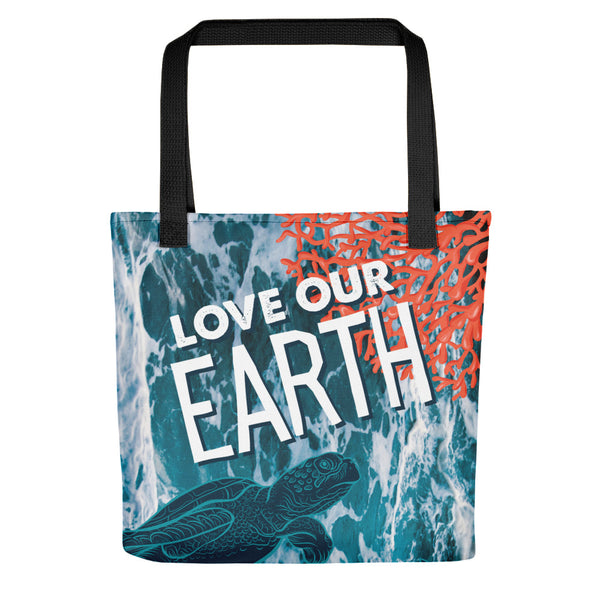 Love Our Earth Limited Edition Earth Day 2019 Ocean Theme Tote bag