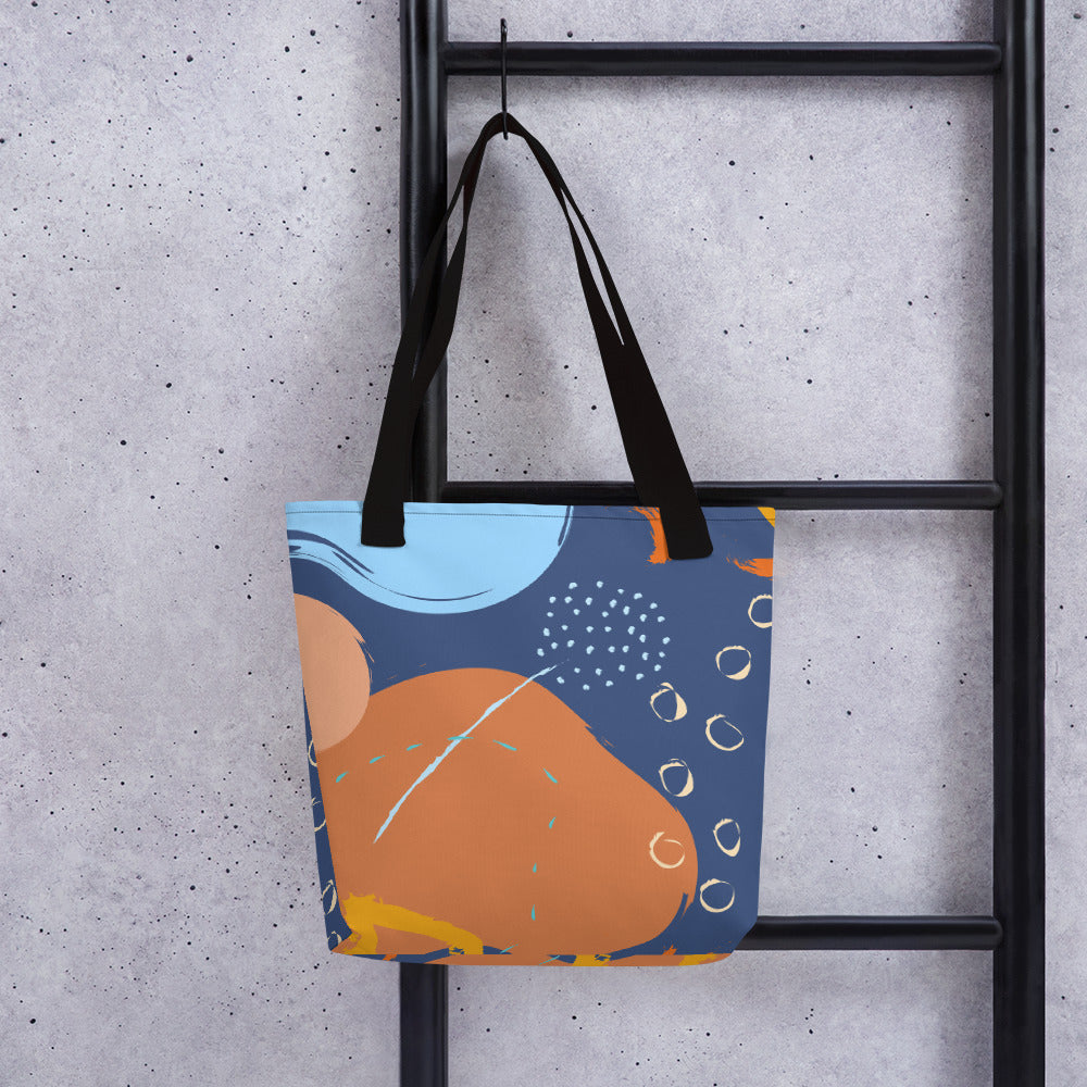 Abstract Blue/Orange Tote Bag