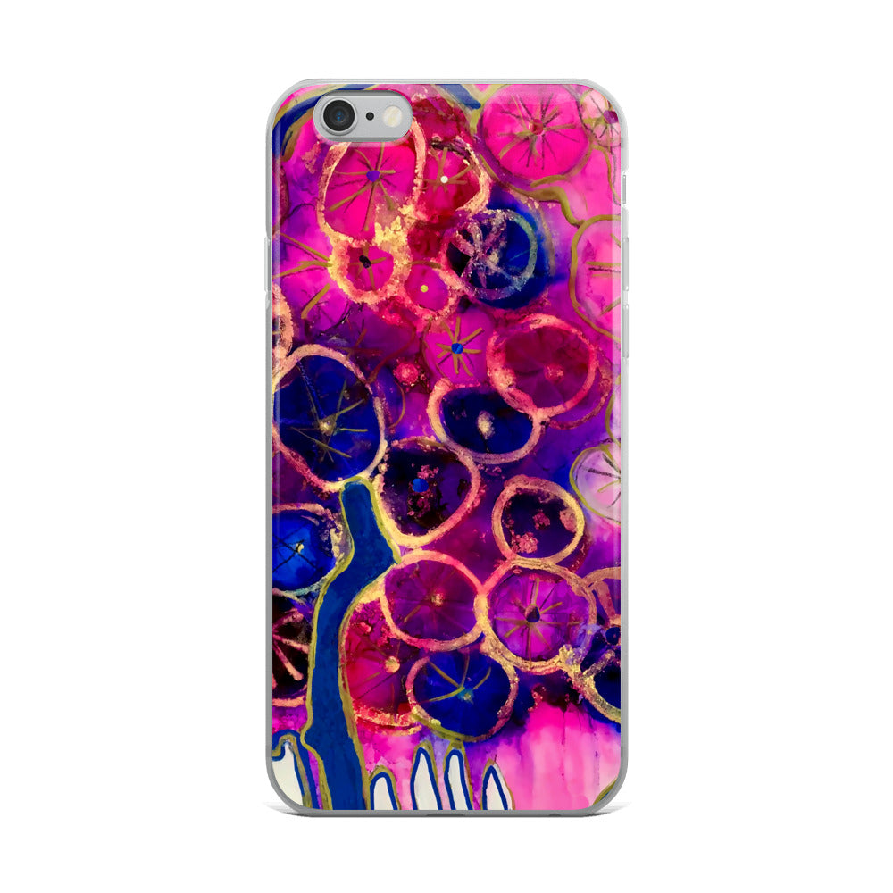 Dripping Dahlias iPhone Case