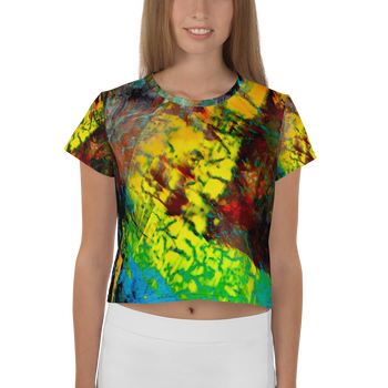 Fault Line All-Over Print Crop Tee