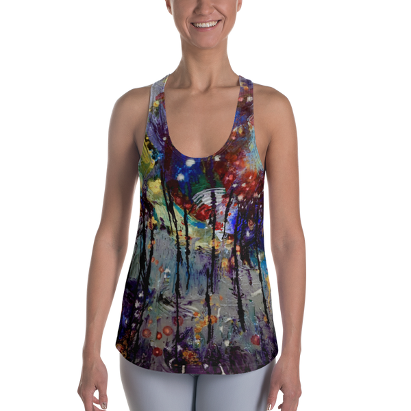 Dripping Springs All Over Print Women's Racerback Tank