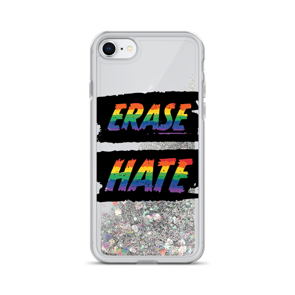 Erase Hate Liquid Glitter Phone Case