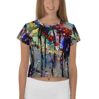 Dripping Springs All-Over Print Crop Tee