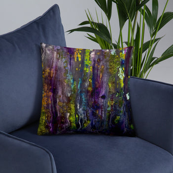 Entrance to Fairy Forest Throw Pillow