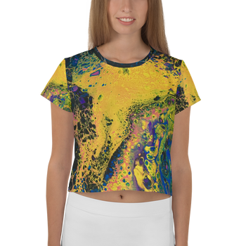 Solar Flare All-Over Print Crop Tee