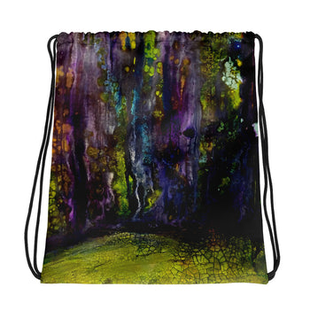 Entrance to Fairy Forest Drawstring Bag