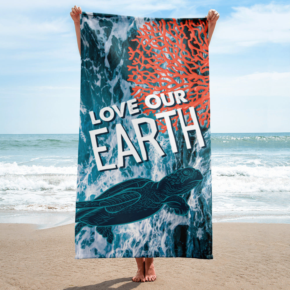 Love Our Earth Limited Edition Earth Day 2019 Beach Towel