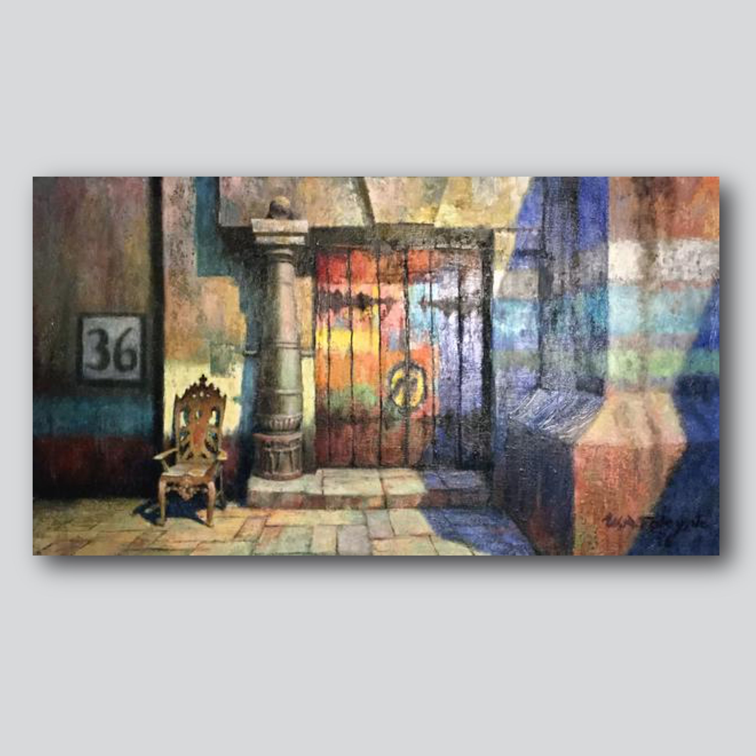 "#36 Rue De Route 45"" x 30"" Limited Edition Printed On High Gloss Metal"