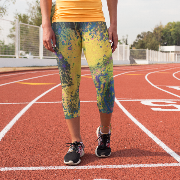 Solar Flare Yoga Capri Leggings