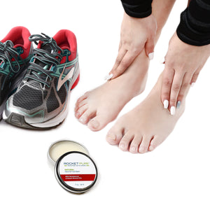 Natural Hand and Foot Balm for Athletes With Sandalwood and Sweet Almond. For Dry Cracked, Damaged Heels From Running, Hiking. Moisturize Dry, Chapped Hands From Climbing, Lifting and Other Sports.