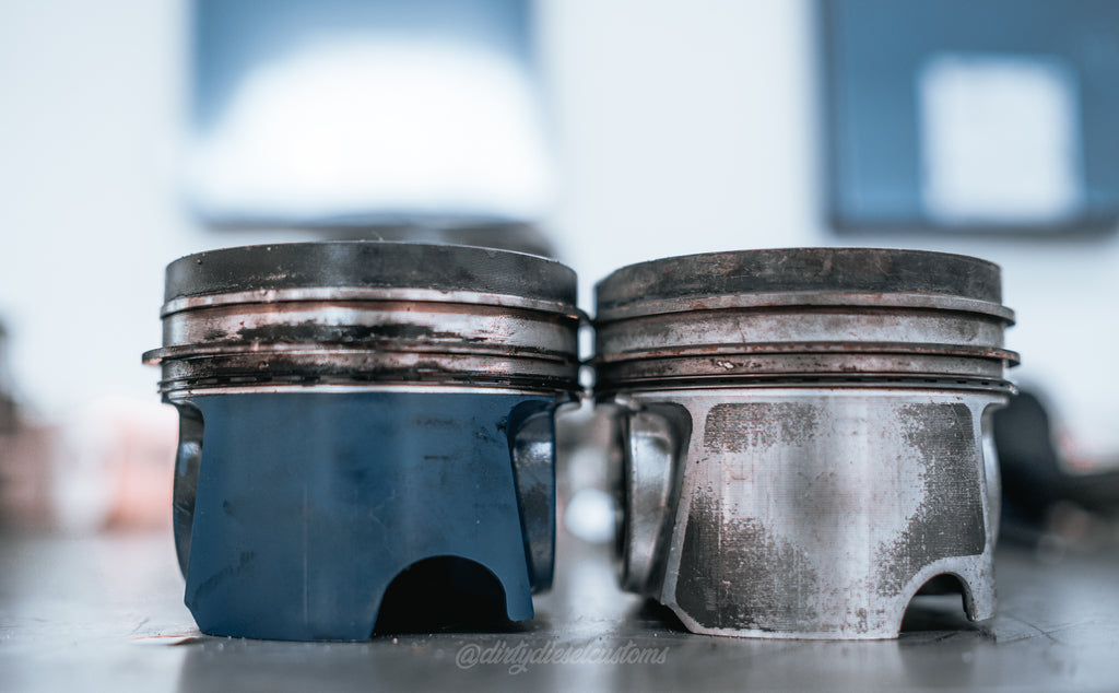 Coated vs Uncoated Piston