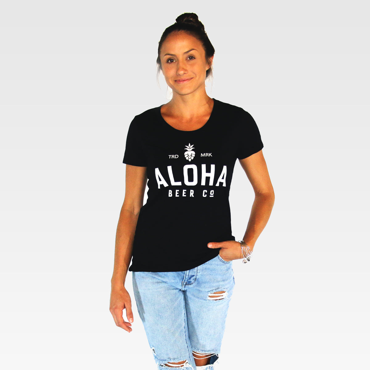 Ladies Aloha Beer Co. Logo Tee