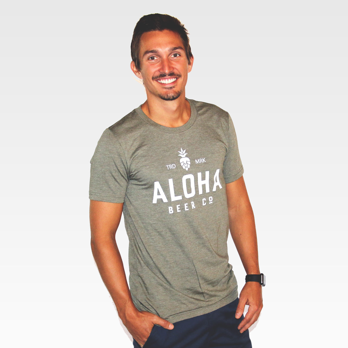 Mens Aloha Beer Co. Logo Tee