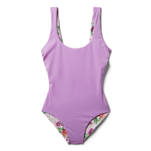 Purple Floral Reversible Onepiece