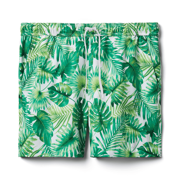 Men's Leafy Swim Trunk