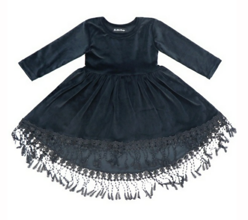 Velveteen Tassel Dress