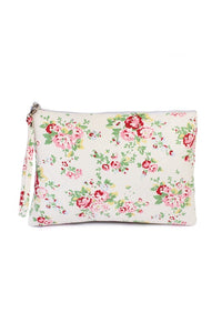Makeup bag- white floral