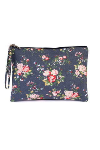 Makeup Bag- navy floral