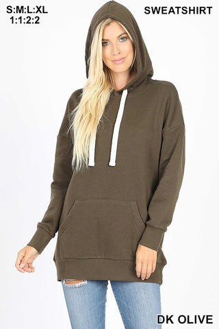 PLUS SIZE Basic Hoodies- 2 colors