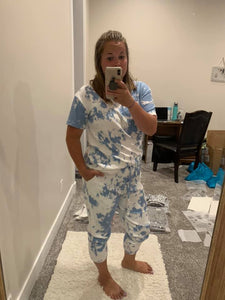 Mona Tiedye Set in Baby Blue