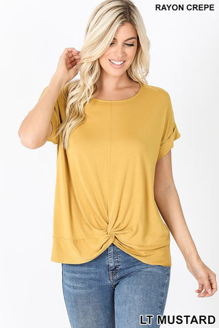 Front Knot Top- 2 colors